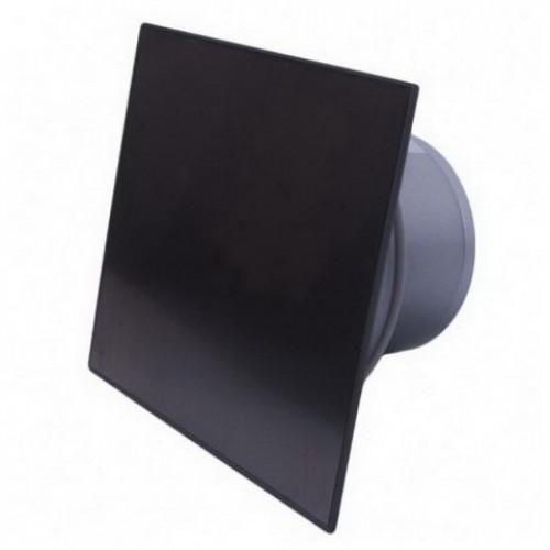 ММ-Р 06 стекло квадрат, 169 м³/ч, 18 Вт,с обратным клапаном /черный матовый/