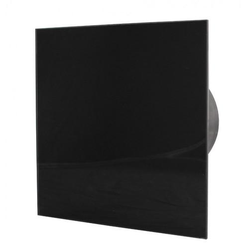ММ-Р 06 стекло квадрат, 169 м³/ч, 18 Вт,с обратным клапаном /черный глянец/